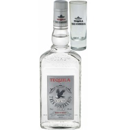 "Текила ""Tres Sombreros"" Tequila Silver, with glass, 0.7 л"