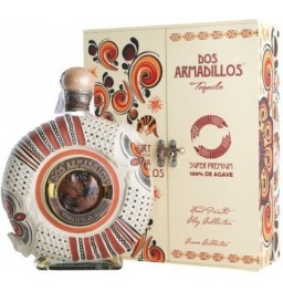 "Текила ""Dos Armadillos"" Extra Anejo (Painted Clay), gift box, 0.75 л"